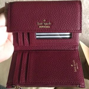 Kate Spade! Brand New! Merlot wallet